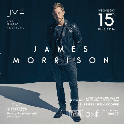 JUST MUSIC FESTIVAL: JAMES MORRISON alle Terrazze dell'EUR